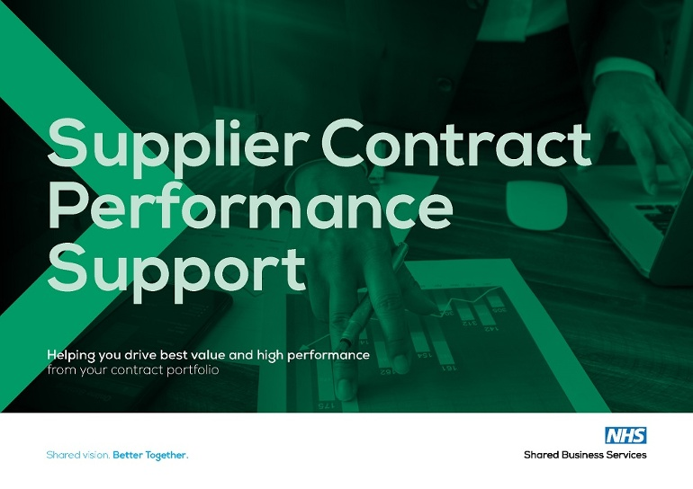 Supplier Contract Performance Support brochure image